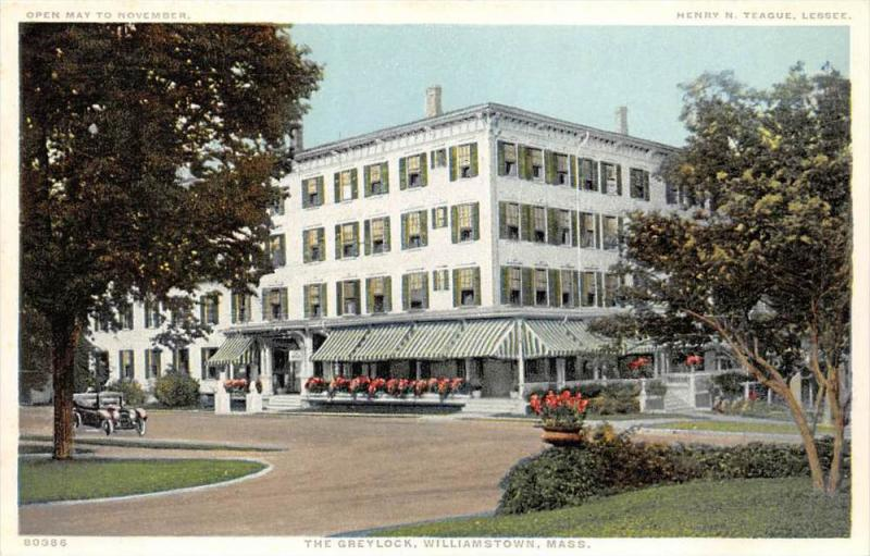 4497  MA Williamstown 1920's  The Greylock Hotel