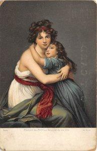 Portrait de Mme Le Brun et de sa Fille Paris Art Artist Unused