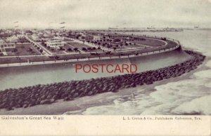 1907 GALVESTON'S GREAT SEA WALL, TEXAS