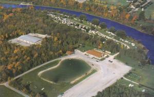 Aerial View, Bingeman Park, Grand River, KITCHENER, Ontario, Canada, 40-60´s