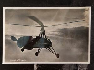 Mint Netherlands Real Picture Postcard Autogiro Plane ACKA