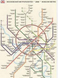 Moscow Russia Train Map Underground Subway Postcard