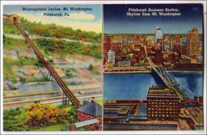Monongahela Incline & Business Section, Pittsburg PA