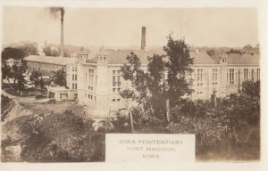 RP: FORT MADISON , Iowa , 1910-20s ; Iowa Penitentiary