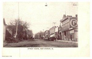 Iowa New Sharon , Street scene , wagons and buggies