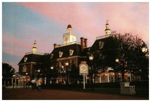 Walt Disney World Epcot American Adventure Pavilion Vtg Postcard 0100-50110
