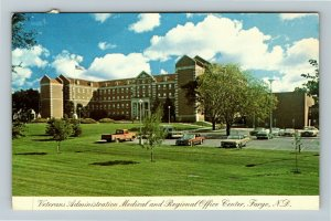 Fargo ND- North Dakota, Veterans Hospital, Administration, Chrome c1984 Postcard