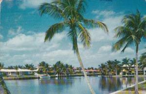 Romantic Waterway Fort Lauderdale Florida 1954