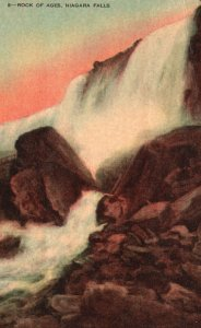 Vintage Postcard  Cave of the Winds Rock of Ages Niagara Falls Ontario Canada