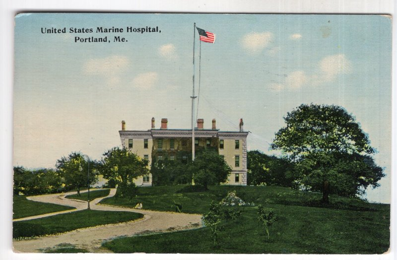 Portland, Me, United States Marine Hospital - Tichnor Brothers