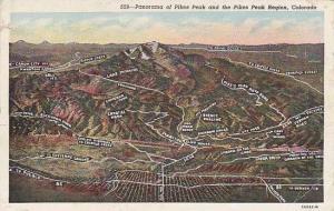 Panorama of Pikes Peak and the Pikes Peak Region, Colorado,  30-40s