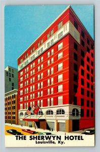 Louisville KY- Kentucky, The Sherwyn Hotel, Motel, Hotel, Chrome Postcard