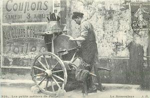France social history carte d`autrefois parisian job grinder