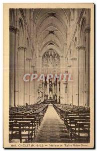 Old Postcard Cholet Interior of The Church Lady Notra
