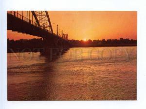 192850 IRAN AHWAZ Karoon bridge sunset old photo postcard