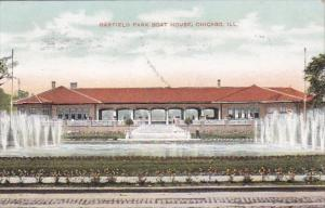 Illinois Chicago Boat House In Garfield Park 1909