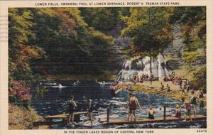 Lower Falls In The Finger Lakes Of Central New York City New York 1940