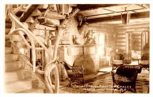 4253  B.C North Vancouver  Lobby  Interior Girous Mtn. Chalet  RPC