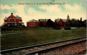 Pennsylvania PA Shippensburg CVS Normal School Postcard 1915 Vintage View PC