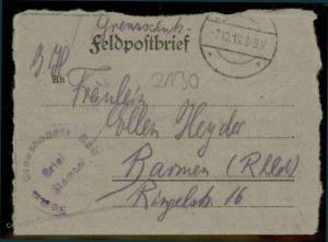 Germany 1919 Pomeranian Freikorps Grenzschutz Ost Feldpost 86997