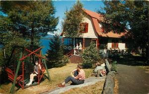 Cliff Lodges Newfound Lake Bristol New Hampshire NH Postcard