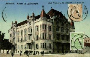 romania, CLUJ NAPOCA, Camera de Industrie și Comerț (1925) Postcard