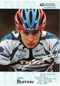 USPS Pro Cycling Team - Post Card - Jamie Burrow - Mint