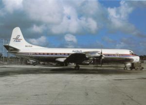 FILAIR, L-188P Electra, at Miami, unused Postcard