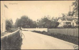 sweden, KÄRRGRUFVAN, Street Scene (1910s) Bike