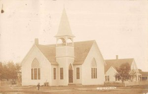 Haven Massachusetts Church Real Photo Vintage Postcard AA12017