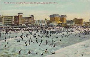 New Jersey Atlantic City Beach Front Showing New Hotel Strand