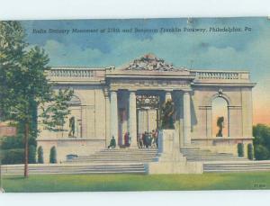 Linen STATUARY MONUMENT Philadelphia Pennsylvania PA H6388