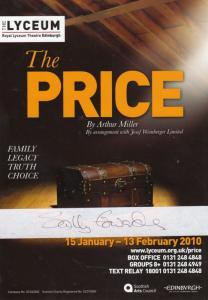 The Price Sally Edwards Edinburgh Lyceum Hand Signed Theatre Flyer