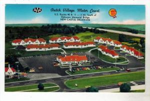 3065 DE New Castle 1950's Dutch Village Motor Court Motel
