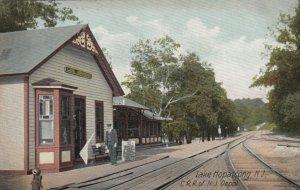 LAKE HOPATCONG , New Jersey, 1907 ; Railroad Train Station