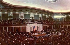 Washington D C United States Capitol Joint Session Of Congress Preident'...