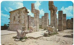 Mexico, The Chac-Mool in front of the Warrior's Temple, Chichen Itza, Yucatan