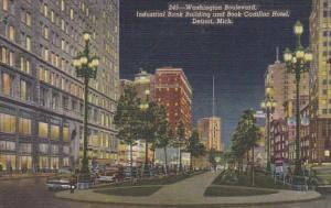 Michigan Detroit Washington Boulevard Industrial Bank Building & Book Cadilla...