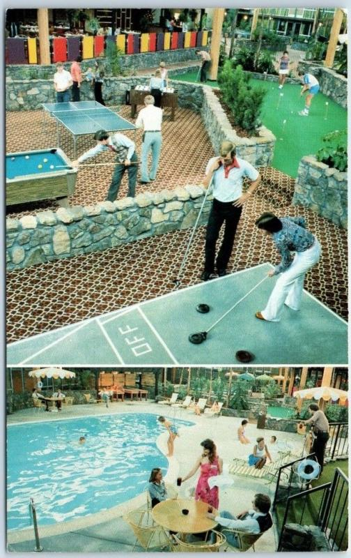 Hutchinson, Kansas Postcard HOLIDAY INN HOLIDOME Motel Mini Golf c1970s Unused