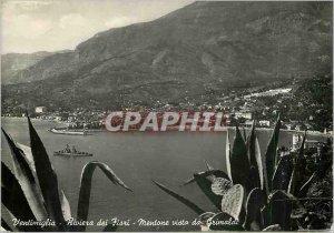 Postcard Modern Ventimiglia Riviere des Fleurs seen Grimaldi boat