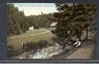 Colour Valentine PC Entrance to Victoria Park, Truro, NS unused