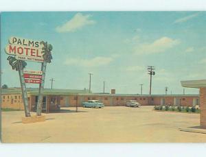 Unused Pre-1980 OLD CARS & PALMS MOTEL Monroe Louisiana LA M0533-12