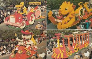 Lincolnshire Spalding Flower Parade Carnival Walt Disney Midland Bank 6x Post...