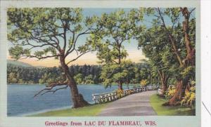 Wisconsin Greetings From Lac Du Flambeau 1954