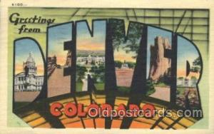 Denver, Colorado, USA Large Letter Town, Towns, Postcard Postcards  Denver, C...