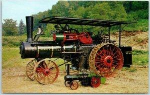 Blowing Rock, NC Postcard FRONTIER VILLAGE w/ ADVANCE RUMLEY Steam Tractor 1960s