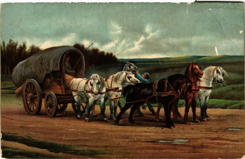 CPA STENGEL 29191 A Waggon and Team of Horses (744991)