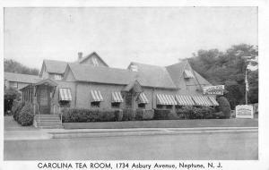 Neptune New Jersey Carolina Tea Room Street View Antique Postcard K106567