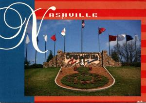 Tennessee Nashville Opryland USA Welcome Sign 1996