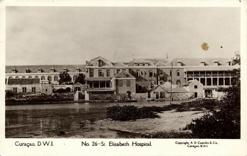 curacao, D.W.I., WILLEMSTAD, St. Elisabeth Hospital (1920s) Capriles  RPPC 26